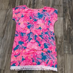 NWOT Lilly Pulitzer dress/cover up with fringe